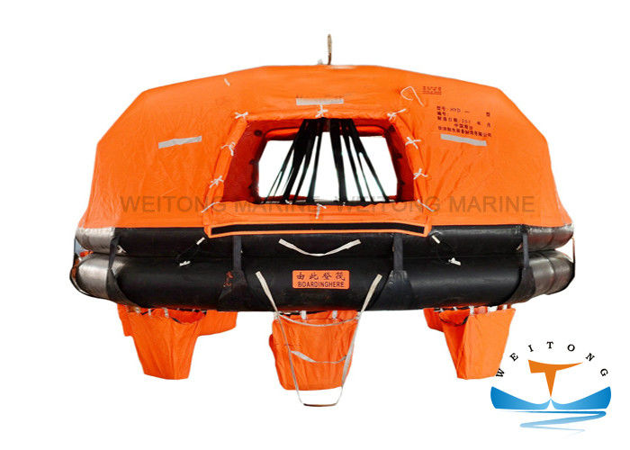 Davit - Launched Marine Life Raft 16 Man Capacity For Sea Sailing Vessel