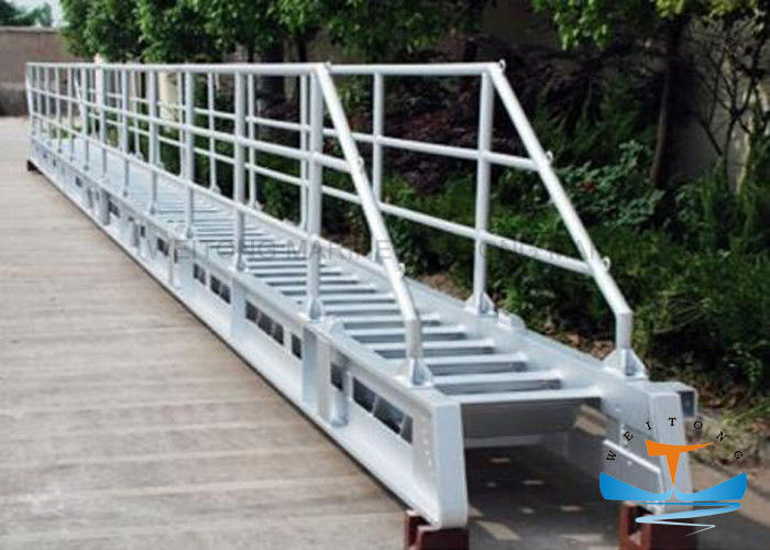 Accommodation Marine Boat Ladders Aluminum Material With Perfect Corrosion Resistance