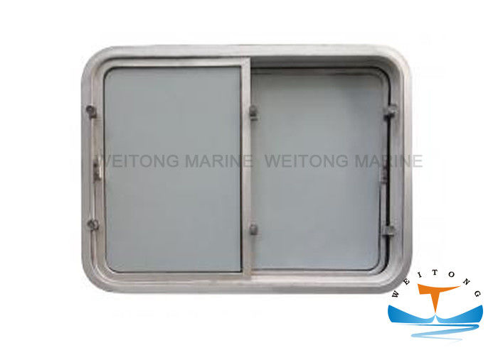 Aluminium Marine Windows For Boats Wheel House Fixed Type 200-450mm Clear Size