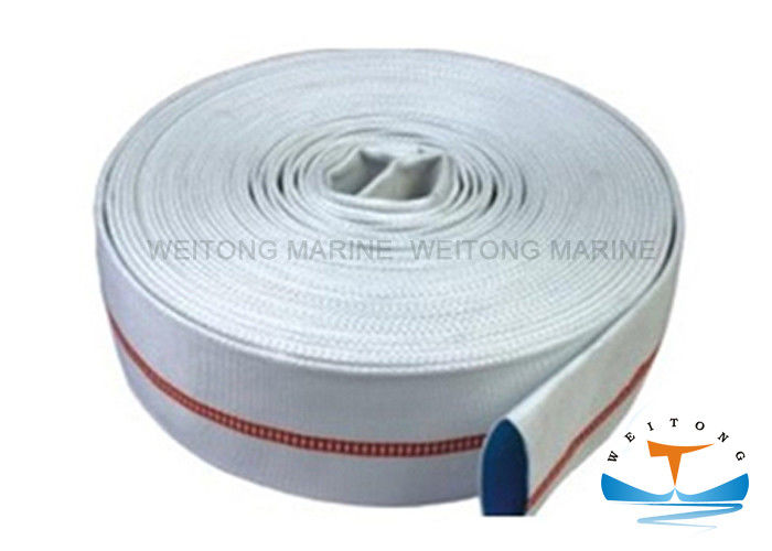 50mm Diameter Double Jacket Fire Hose , Rubber Fire Hose Customized Size