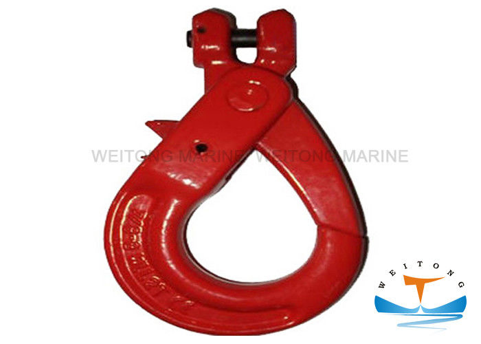 Powder Plastified Rigging Lifting Equipment G80 Clevis Self Locking Hooks