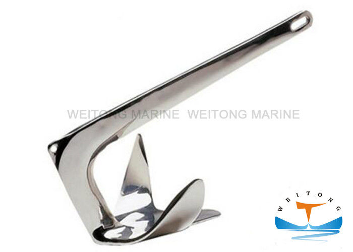 Galvanized Plow Style Marine Mooring Equipment , Stainless Steel 316 Plow Anchor for Ship