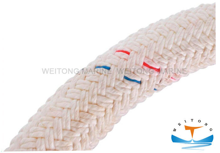 Customized Double Braided Mooring Rope Red , Green , Yellow Color