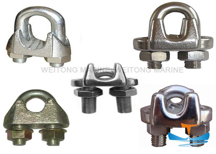 DIN1142 JIS Type Stainless Steel Wire Rope Clamp For Marine Or Construction